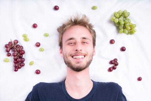 Uva, Frutta, Progetto, FRUITproj, bianco, yogurt, bergamo, fotografia, ritratti, ritratto, ritrattistica, frutto, personalità, studio