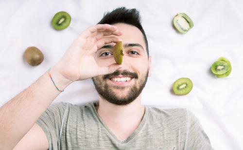 kiwi, Frutta, Progetto, FRUITproj, bianco, yogurt, bergamo, fotografia, ritratti, ritratto, ritrattistica, frutto, personalità, studio